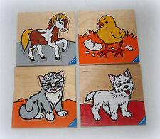 Ƹ̵̡Ӝ̵̨̄Ʒ Ravensburger Holzpuzzle Katze Hund Pferd Küken Steckpuzzle  Ƹ̵̡Ӝ̵̨̄Ʒ