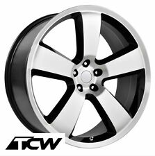 (4) 20 inch 20x9 Dodge Charger SRT8 OE Replica Machined Black Wheels Rims 5x115