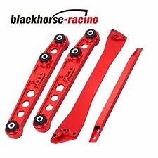 Fits Honda Civic 92-95 EG Red Rear Lower Control Arm Subframe Brace Tie Bar