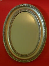 Ovalspiegel Antique Wood Frame Art Nouveau Silver Silver Wall Mirror Oval