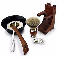bois rose Fabriqué 5 pièces pour hommes ensemble de rasage avec PURE slivertip