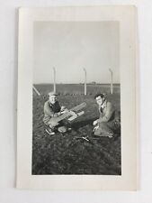 Vintage BW Real Photo #AS: Model Plane : RAF Base? Airport? 1 of 2