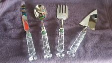 "Shannon Crystal/Silver Plate - ""Designs of Ireland""  5 piece serving Set"