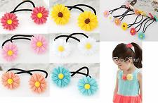1 Paar Blüten Blumen Haargummi Kinder Haarschmuck Zöpfe Oktoberfest 2 Stück NEU