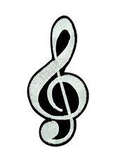 Aufnäher Aufbügler Patch backpack music symbol motiv clef violinschlüssel