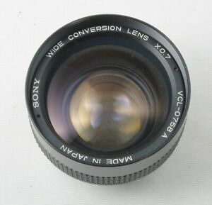 Sony Wide-Conversion Lens X0.7 Complete with caps, case & instructions