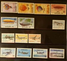 Vanuatu Aircraft & Aviation Stamps Lot of 15 - MNH - See Details for List