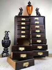 Oak Original Edwardian Antique Cabinets