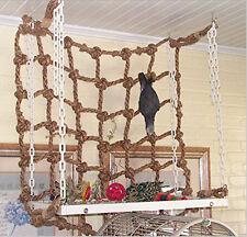 Jouet Jeu Perroquet Perruche Oiseaux Suspendue Filet Corde Cage Bird Cadeau Mode