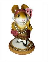 Wee Forest Folk ZELDA gold glitter flapper dress Miniature Mouse
