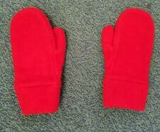 kids red mittens & 2 pair of green gloves gloves