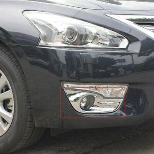 For Nissan Altima 2013 2014 2015 Chrome Front Fog light lamp Shield Cover Trim