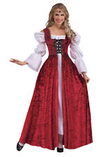 Deluxe Medieval Tudor Queen Ginevra Maid Marion Fancy Dress Costume Banquet NEW