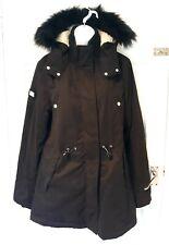 SUPERDRY WOMEN'S DESIGNER JACKET COAT NEW MODEL MICROFIBRE PARKA BLACK UK 14