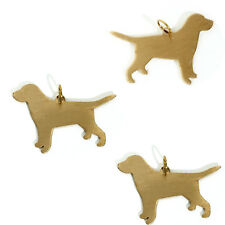 3 Labrador Dog Stamp Blank Charm DIY Jewelry Finding For Engraving Hand Stamping