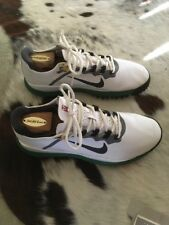 Authentic Nike TW '13 Golf Shoes 10.5 White Green Tiger Masters Edition Rare