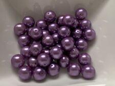 Glasperlen 55 Stück 14 mm schwarz matt gefrostet Optik Perlen Schmuck V97