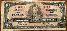 BANK OF CANADA TEN DOLLARS 10$ BILL PAPER MONEY COYNE-TOWERS