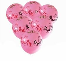 6x Peppa Pig Latex Party Balloons Ideal children's Birthday Party Decoration12""