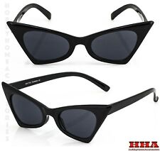 NEW Classic Retro Vintage Cat Eye Style Sun Glasses Small Black Fashion Frame