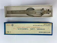 Vintage Hypo Glass Luer Tuberculin Syringe 1cc 6515 282 9600 In Original Box