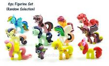 6pc My Little Pony Figurine For Cake Decoration Topper Figure Toy Kids PVC Set