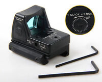 Tactical Reflex Adjustable Ultra Mini Red Dot Sight Scope for Airsoft Black New