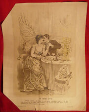 ANTIQUE EROTIC Posters RUSSIAN COMIC TWO Image Pictures LITHOGRAPHS pre 1917
