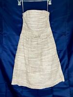 Banana Republic Womens Strapless Striped Tan Casual Lined Dress Size 4