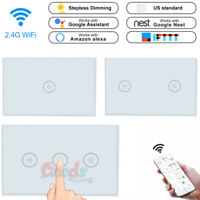 1/2/3 Gang Smart WiFi Wall Light Switch Touch Panel For Amazon Alexa Google Home