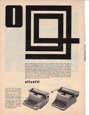 1957 OLIVETTI LEXIKON ELECTRIC TYPEWRITER AD