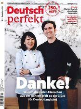 Deutsch perfekt, Heft April 4/2018: Danke!  +++ wie neu +++
