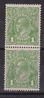 G89) Australia 1926 KGV 1d Green sml. multi. wmk. perf. 13.5 x 12.5