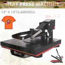 "15"" x 15"" Clamshell Heat Press Machine Diy T-shirt Sublimation Digital Transfer"