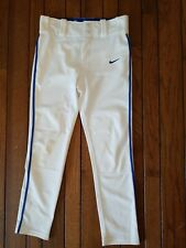 Nike baseball pants white with blue pipe size small - boys girls youth size S