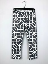 Eleven Venus Williams Gray White Geometric Yoga Capri Leggings Size X-Small XS