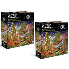 2x 1000pc Crown Vivid Views Series Owl Tree Garden 68.6cm Jigsaw Puzzle Toy 15y+