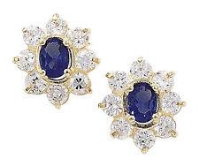 Butterfly Stud Yellow Gold Oval Fine Gemstone Earrings