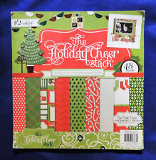 "Holiday Cheer Stack DCWV Printed Cardstock Paper Scrapbooking 12"" x 12"" 48pc"