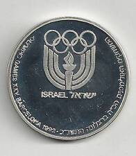 ISRAEL 1990 OLYMPIC GAMES BARCELONA 1992 STATE MEDAL 37mm 26g STERLING SILVER
