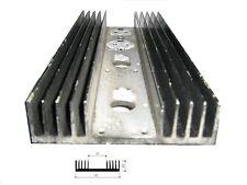 Dissipatore in alluminio per elettronica  25x97x250 mm preforato 2 TO-3