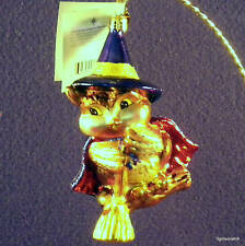 RADKO HALLOWEEN 2 WITCH WINGER GLASS ORNAMENT NWT RARE RETIRED NEW VALUE