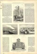 1877 Hms Thunderer Monument General Grant Corporation Engraving