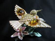 colibrí con Swarowski CRISTALES equipado Dorado Chapado en oro COLIBRI BLU