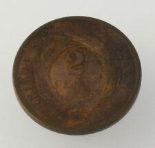 1868 2-Cent Pièce - Filadelfia US Excellent État Collectionneurs Antique Cuivre