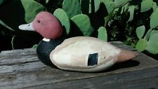 Vintage Red Head Wood Hunting Duck Decoy