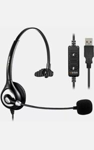 Wantek A600 Wired Headset Microphone USB For Call Centre Home Working Laptop PC