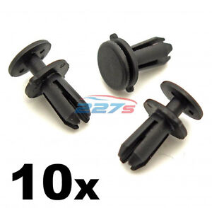 10x Skoda 5mm Plastic Rivets Front Grille & Bumper Radiator Cover Trim Clips