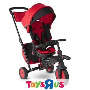 smarTrike STR7J 7-in-1 Folding Baby Tricycle - Red