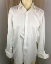 Hugo Boss Men's Long Sleeves White Weaves  Sharp Fit Dress Shirts 16  * 32/33